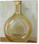 Olive Oil Bottle Still Life  Wood Print