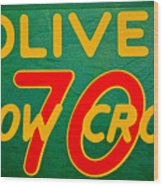 Oliver 70 Row Crop Wood Print
