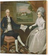 Oliver And Abigail Wolcott Ellsworth 1801 Wood Print