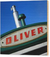Oliver Tractor Nameplate Wood Print