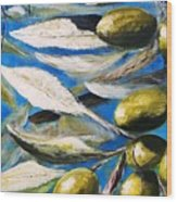Olives Extract Wood Print