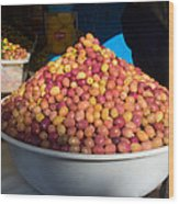 Olives For Sale In Market, Essaouira Wood Print
