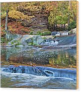 Olmsted Waterfalls Wood Print