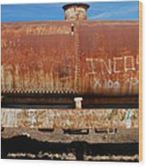 Ols Rusty Container Train Wagon Wood Print