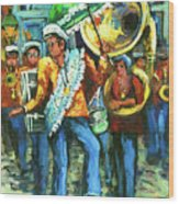 Olympia Brass Band Wood Print by Dianne Parks