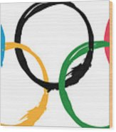 Olympic Ensos Wood Print