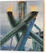 Olympic Flame Wood Print