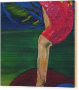 Olympic Gymnast Nastia Liukin  Wood Print