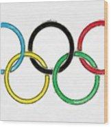 Olympic Rings Pencil Wood Print