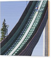 Olympic Ski Jump Training Wood Print