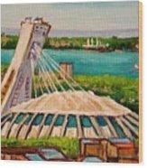 Olympic Stadium  Montreal Wood Print