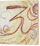 Om Wood Print