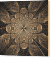 Om Particles Wood Print