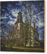 Ominous Batsto Mansion Wood Print