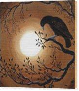 Ominous Bird Of Yore Wood Print