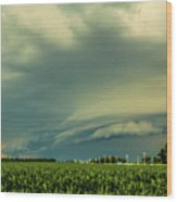Ominous Nebraska Outflow 001 Wood Print