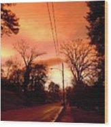 Ominous Orange Skies 1 Wood Print