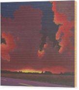 On A Dark Desert Highway Wood Print