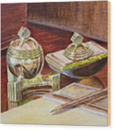On A Desk At Eugene O Neill Tao House Wood Print