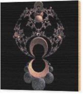On A Mirror Wood Print