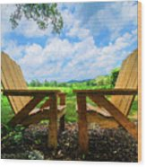 On A Pretty Summer Day Oil Painting Wood Print