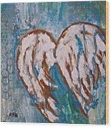 On Angel Wings Wood Print