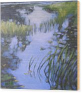 On Calm Reflection Wood Print