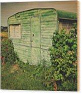 On Caravan Wood Print
