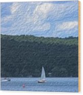 On Cayuga Lake Wood Print