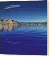 On Crater Lake Wood Print