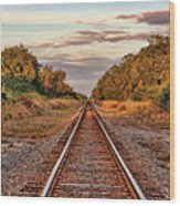 On Down The Line 2 Wood Print