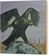On Eagles Wings Wood Print