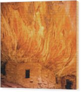 On Fire Wood Print