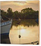 On Golden River Wood Print