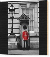 On Guard Wood Print