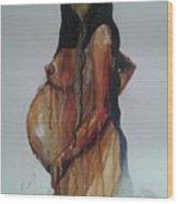 On Hold Wood Print