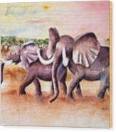 On Safari Wood Print