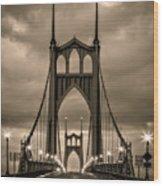 On St Johns Bridge Wood Print