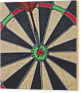 On Target Bullseye Wood Print