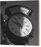 On Telluride Time Wood Print