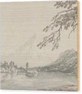 On The Aar Between Unterseen And Lake Of Brienz Wood Print