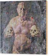 On The Altar Of Skull Carson #3. A Self-portrait, 2016 Wood Print