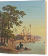 On The Banks Of The Nile Wood Print