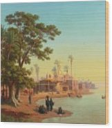 On The Banks Of The Nile Wood Print