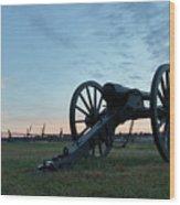 On The Battlefield Wood Print