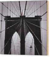 On The Bridge Wood Print