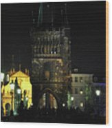 On The Charles Bridge Wood Print