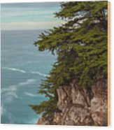 On The Cliff - Vertical Wood Print