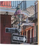 On The Corner Of Royal Street Wood Print