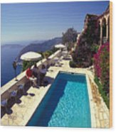 On The French Riviera Wood Print